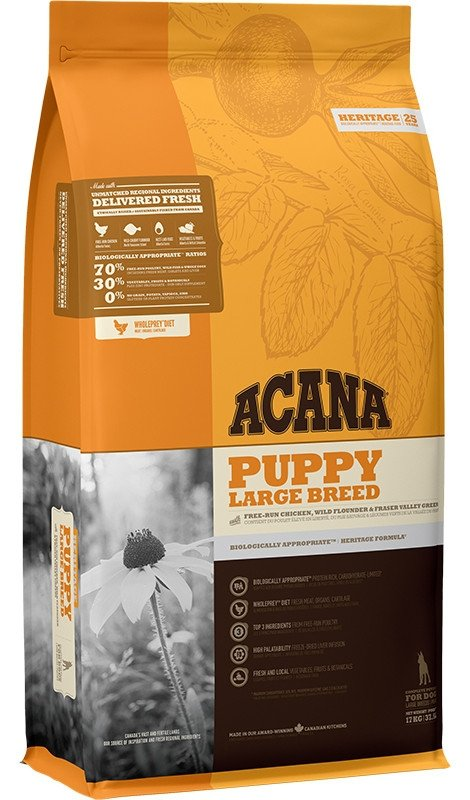 Acana Puppy Large Breed 17kg Sucha karma dla Szczeniąt Dużych Ras