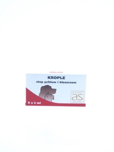 ZooArt AS Krople przeciw pchłom i kleszczom 6x2ml