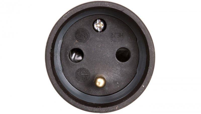 HELMO Gniazdo przenośne gumowe 16A 2P+Z 230V IP44 50111