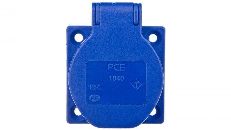 Gniazdo tablicowe 10/16A 2P+Z 230V niebieskie IP54 1040-0bsc