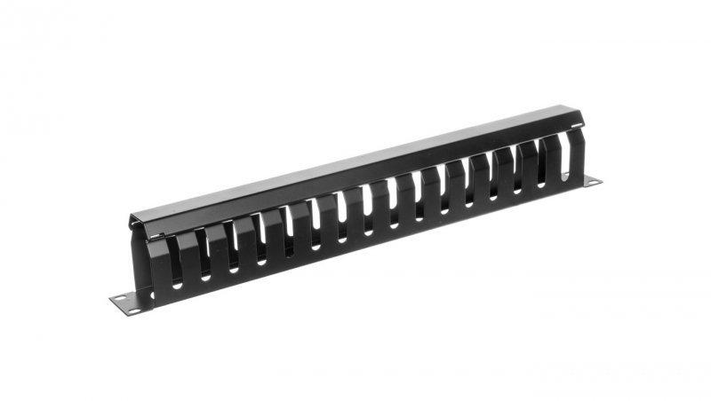 Organizator kablowy 19 cali 1U W/40xG/70 czarny DN-97617