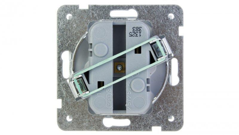 AS Gniazdo potrójne b/u 2.5A EURO białe GP-3G/m/00