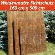 Weidenmatte Sichtschutz Rollzaun 160 cm x 500 cm