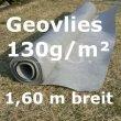 Gartenvlies Geovlies Geotextil 130g/m² 1,6m breit 1 lfm