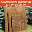 Weidenmatte Sichtschutz Rollzaun 110 cm x 500 cm