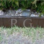 Gartenzaun Rasenkante 5,80m braun