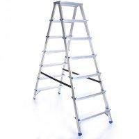 Leiter Aluleiter Zweiseitige Klappleiter 8 Stufen