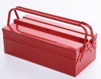 Werkzeugkoffer Werkzeugkasten Stahlblech 430mm 3 Fächer rot