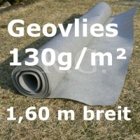 Geovlies Geotextil 130g/m² 1,6m breit 1 lfm