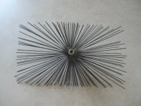 Schornsteinbesen Rechteckig Kaminbesen aus Stahl 14 x 28cm