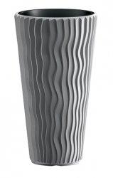 Blumentopf Pflanzkübel 3D Effect Sandy Slim 350 grau