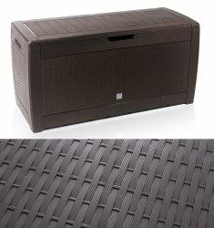 Gartenbox Auflagenbox Truhe Box Rattan-Umbra