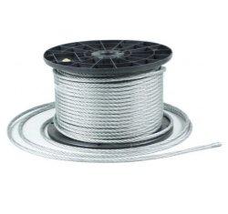 40m Stahlseil Drahtseil galvanisch verzinkt Seil Draht 4mm 6x7
