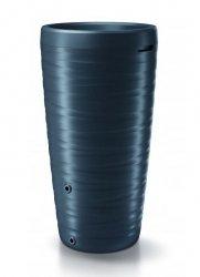 Regenwassertonne Regentonne Amphore Hahn 240L Welle-Design 3D Anthrazit