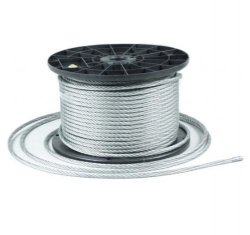 250m Stahlseil Drahtseil galvanisch verzinkt Seil Draht 2mm 1x19