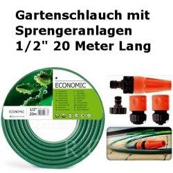 """Gartenschlauch Econ mit Sprengeranlagen 1/2"""" 20 Meter Lang"""