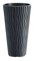 Blumentopf Pflanzkübel 3D Effect Sandy Slim 400 anthrazit