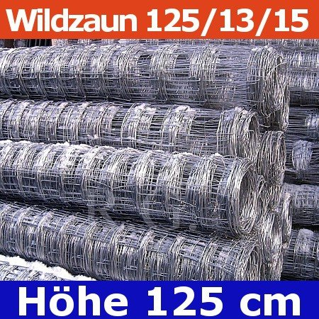 Wildzaun Forstzaun Weidezaun 125/13/15 50 Meter