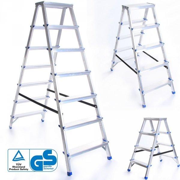 Leiter Aluleiter Zweiseitige Klappleiter 6 Stufen