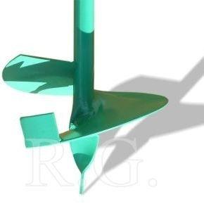 Erdlochbohrer Handbohrer 140mm in grün
