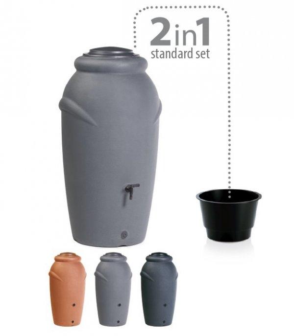 Regentonne Regenwassertonne Regenbehälter 210L Anthrazit