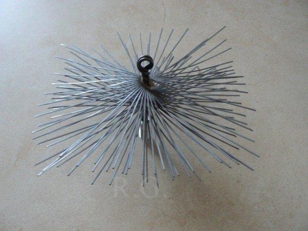 Schornsteinbesen Quadrat Kaminbesen aus Stahl 18 x 18cm