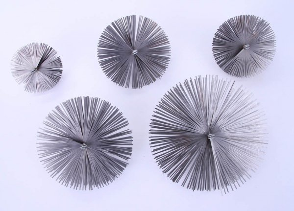 Schornsteinbesen Kaminbesen aus Federstahl 45cm