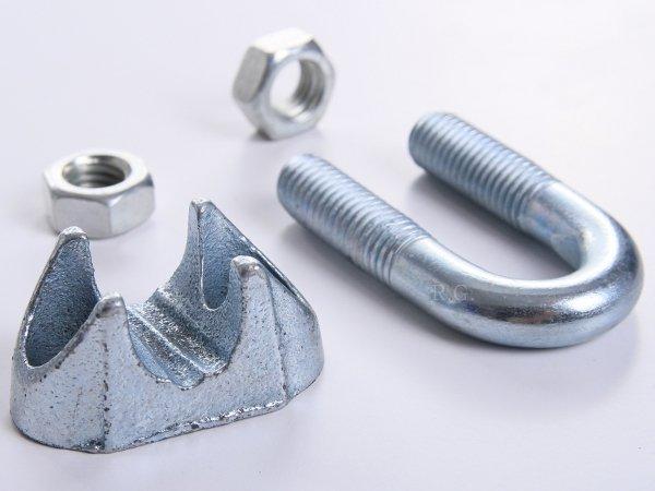 10x Drahtseilklemmen Seilklemmen für Stahlseil 3 mm