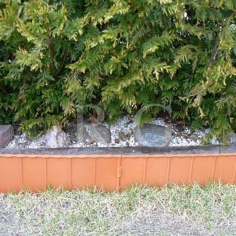 Gartenzaun Rasenkante 5,80m terracotta