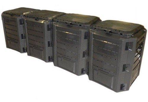 Komposter Kompostbehälter Thermokomposter 1600 L schwarz