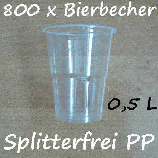 800 Bierbecher 0,5 L Transparent