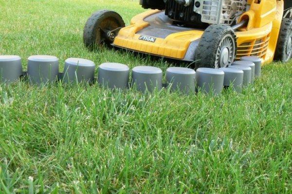 Palisade Gartenpalisade Rasenkante 2,02m in grau