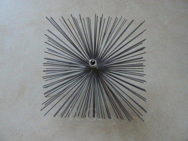 Schornsteinbesen Quadrat Kaminbesen aus Stahl 14 x 14cm