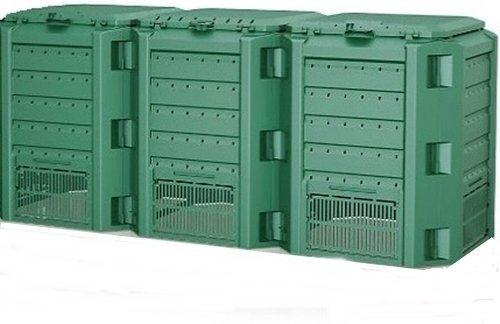 Komposter Kompostbehälter Thermokomposter 1200 L grün