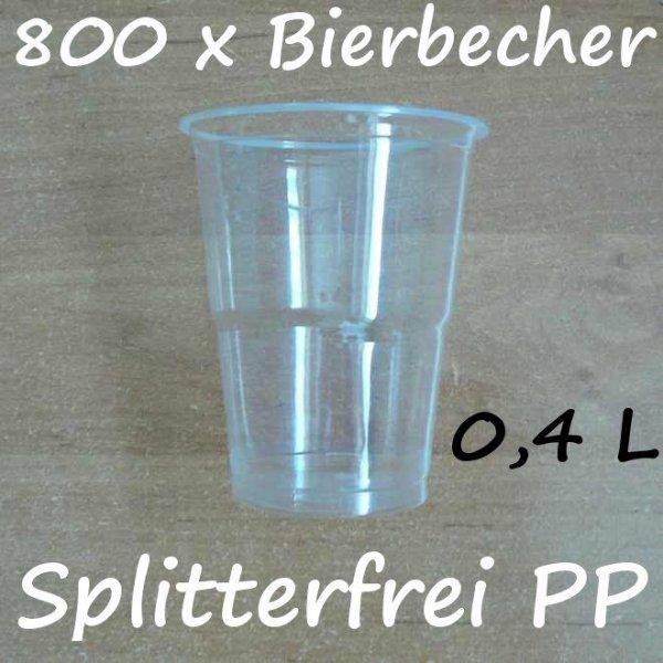 800 Bierbecher 0,4 L Transparent