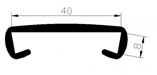 Handlauf Kunststoffhandlauf PCV Geländer 40x8 Farbe Dunkelblau