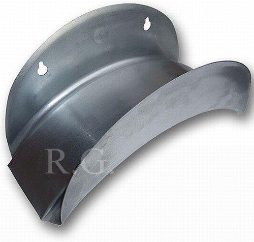 Wandschlauchhalter Schlauchhalter aus Metall silber Gartenschlauch Schlauch