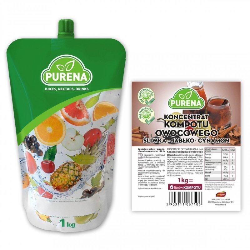 Kompot śliwka-jabłko-cynamon koncentrat 6l/1kg