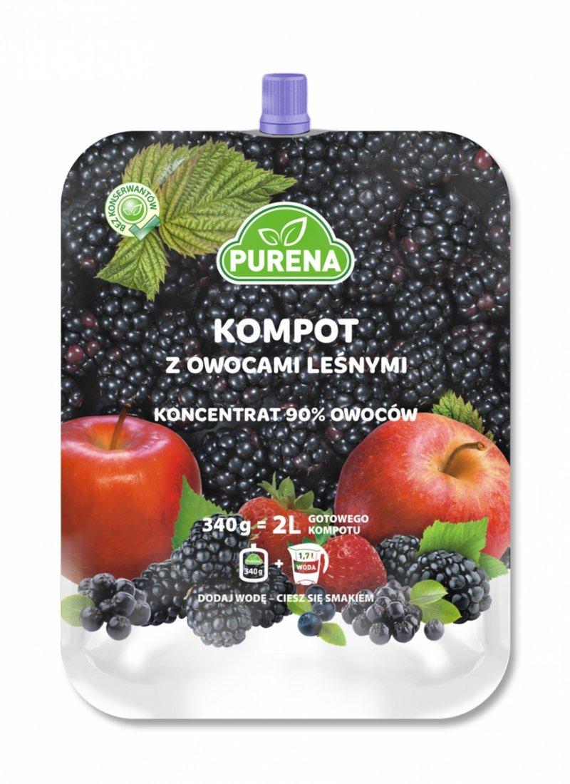 Kompot z owocami leśnymi koncentrat  2l/340g