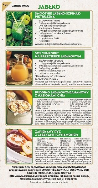 Pulpa (puree) z jabłek 100% b/c 1kg