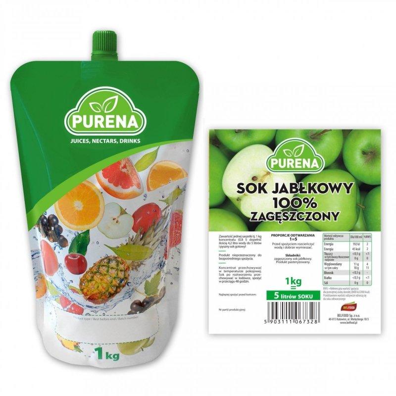 Sok jabłkowy 100% zagęszczony 5l/1kg
