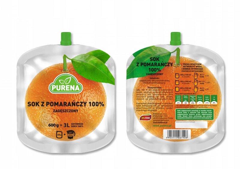Sok pomarańczowy 100% zagęszczony  3l / 600g