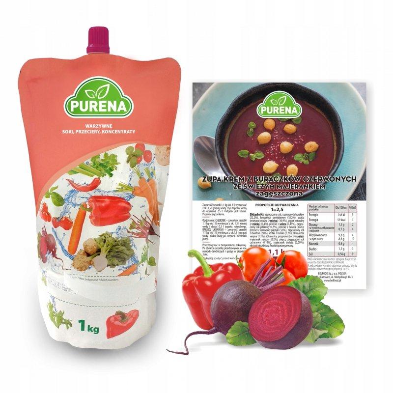 Zupa krem z buraczków czerwonych zagęszczona 3x1 kg = 7,5l zupy