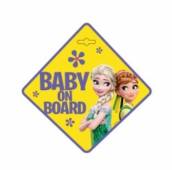 BABY ON BOARD Schild  Disney FROZEN mit Saugnapf