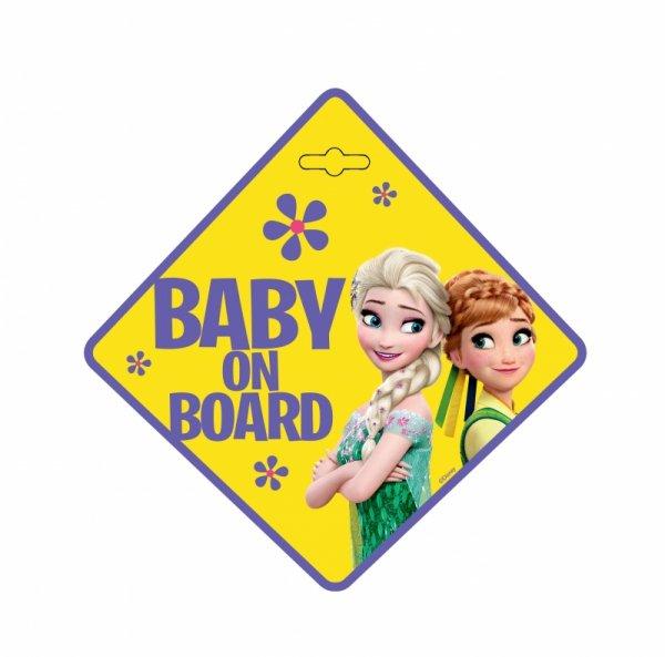 BABY ON BOARD Schild  Disney FROZEN mit Saugnapf