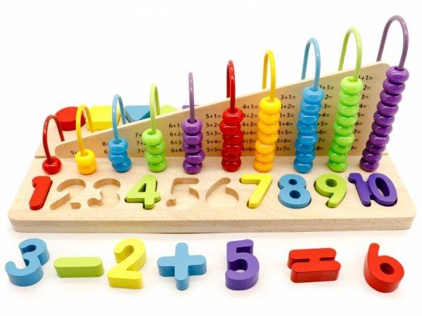 Lernspielzeug Rechenbrett Bausteine Zahlen Zahlenlernspiel Spielzeug NEU