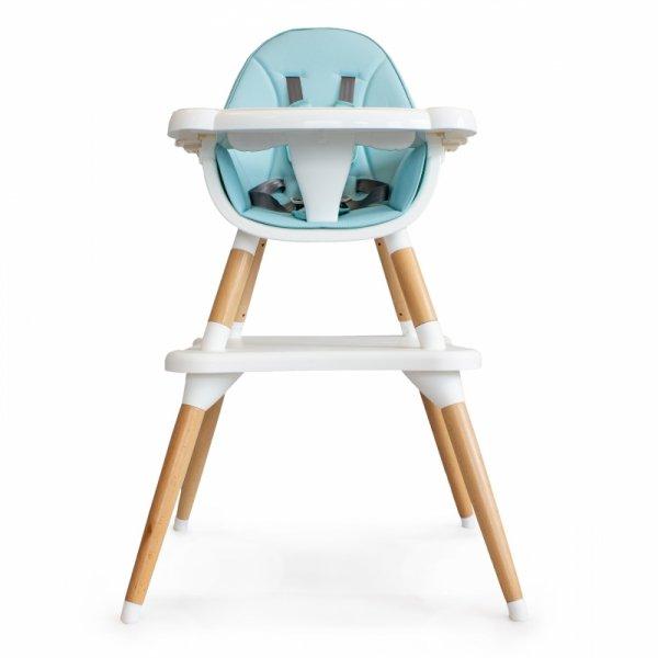 Hochstuhl Kinderessstuhl Essstuhl 2in1 blau Baby Babystuhl ECOTOYS Kombihochstuhl Sicherheitsgurte Fußstütze