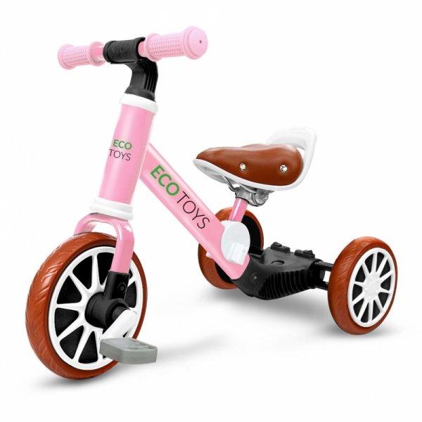 Laufrad, Fahrrad 3in1 mit Pedalen + Seitenrädern, pink