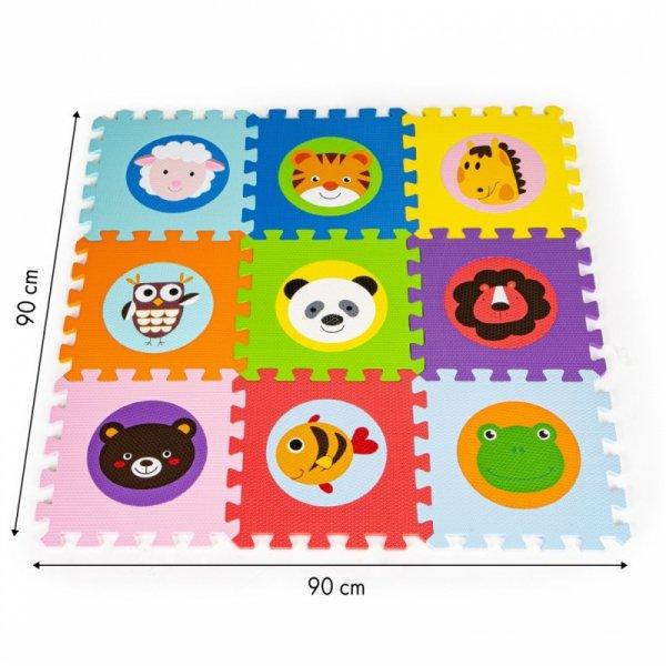 Schaumstoffmatte für Kinder Tiere 90x90cm 9 Stck.