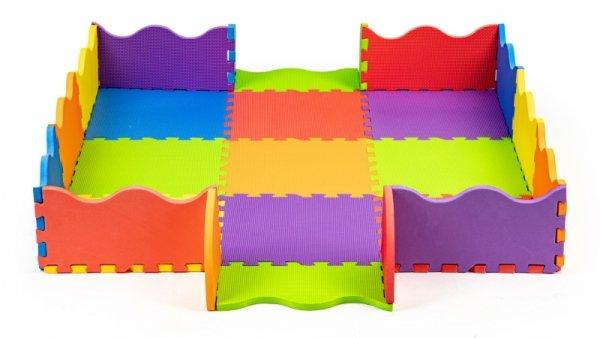 Schaumstoffmatte für Kinder mit einem Zaun 91x91 cm 25 Elemente